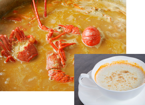 伊勢海老スープの作り方
